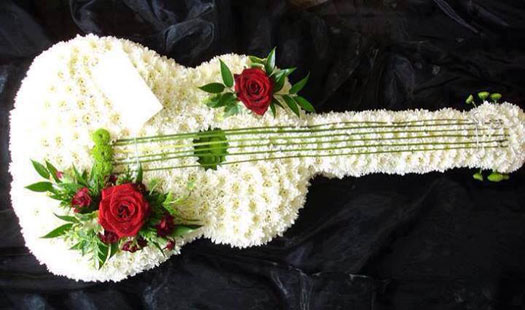 flower guitar by unknown artist
