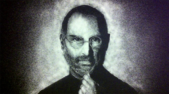 Steve Jobs Salt Art