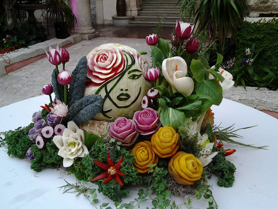 Ric testani s beautiful wedding fruit carving arrangements