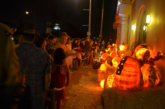 Carved Halloween Pumpkins at the Self REalization Fellowship in Encinitas