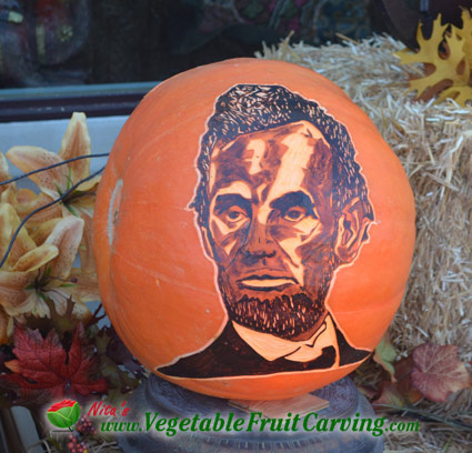 abe lincoln pumpkin - pumpkin carvings of people