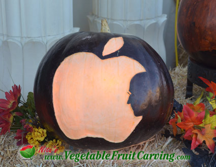 Apple Steve Jobs Pumpkin