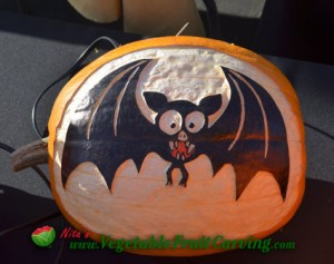 wacky bat pumpkin carving