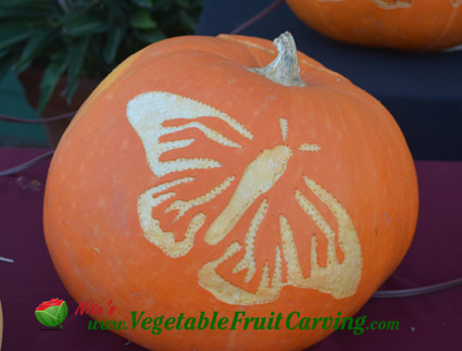 butterfly-carved-pumpkin