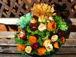 Bouquet of leeks and carrot flowers
