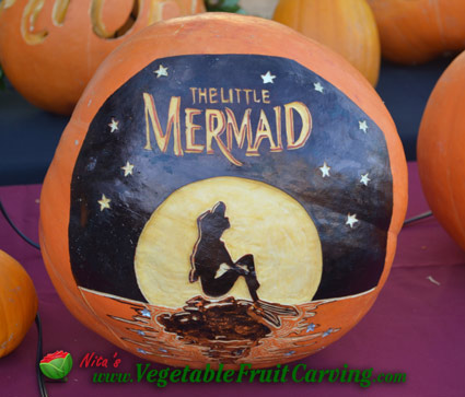 Little Mermaid Pumpkin