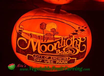 Moonlit Beach Pumpkin