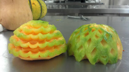 Pat's first melon carvings