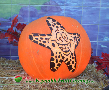 Starfish Cartoon Pumpkin