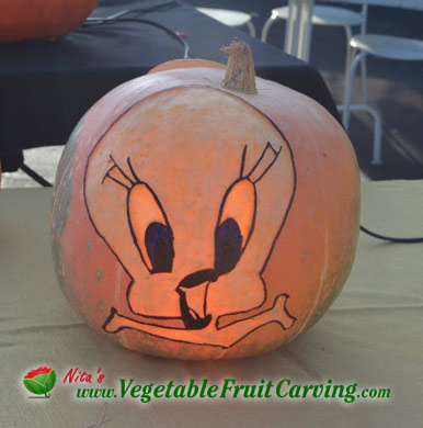 Tweety Bird Pumpkin