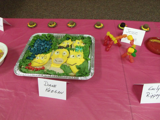 Food Art Simpsons Meat and Cheese Platter