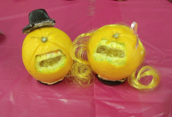 Food Art Oranges