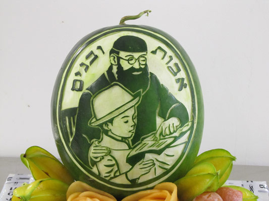 Tzipy Watermelon Carving Rabbi