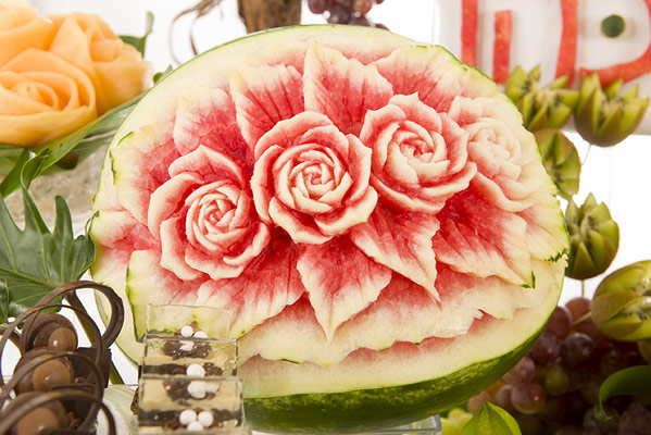 Tzipy Watermelon Rose Carving