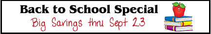 back to school special savings