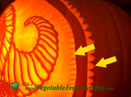 Thanksgiving pumpkin detail