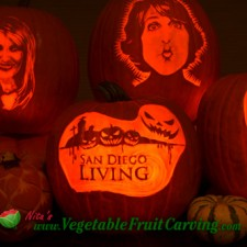 pumpkins that Nita Gill carved for the San Diego Living TV show.