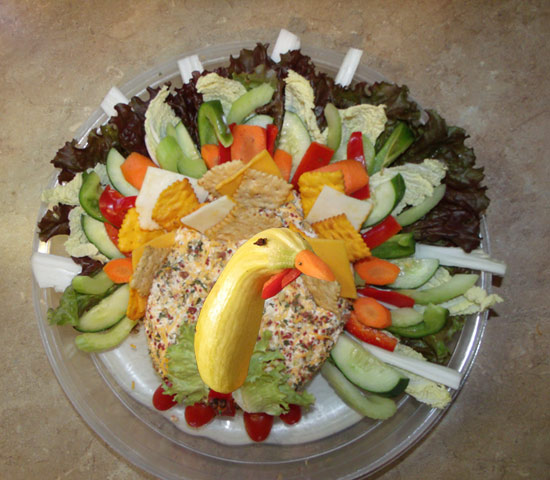 Thanksgiving vegetable tray a festive holiday treat