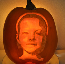Donna's first pumpkin portrait