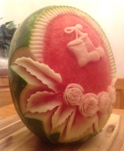 Holiday Fruit and Vegetable Carvings