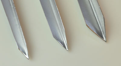 3 cutting surfaces of V cutter tools