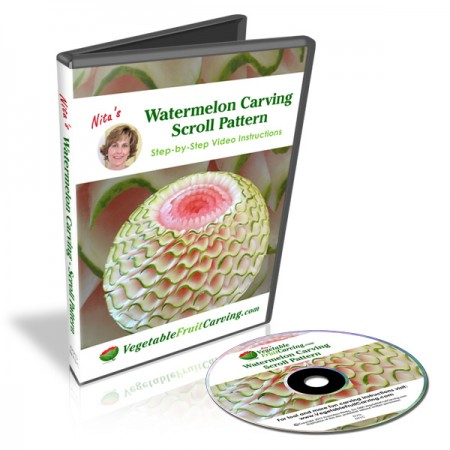 Advance your melon carving skills with Nita's Watermelon Scroll Pattern DVD lessons.