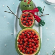 watermelon snowman fruit salads