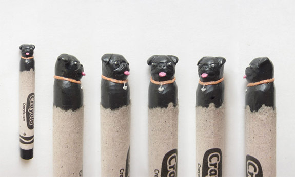Dog Crayon Art