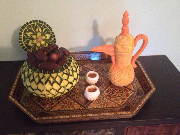 Najwa-Coffee Set Carving
