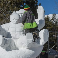 snow sculpture breckenridge team