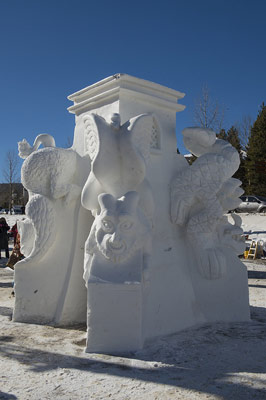 Snow Sculpture by Team Great Britain