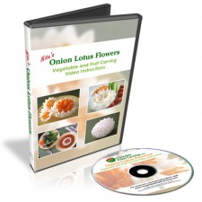 These onion lotuses are a fun decorative addition to any meal. This set is also lesson #1 in the 101 Course for Beginners