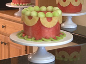 Easy watermelon cake with pineapple swags
