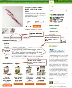 "Illustration of 'Additional Info"" tab on product pages."