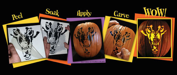 Pumpkin Pattern Tattoos makes carving a breeze