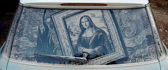 Scott Wade Mona Lisa Dirty Car Art