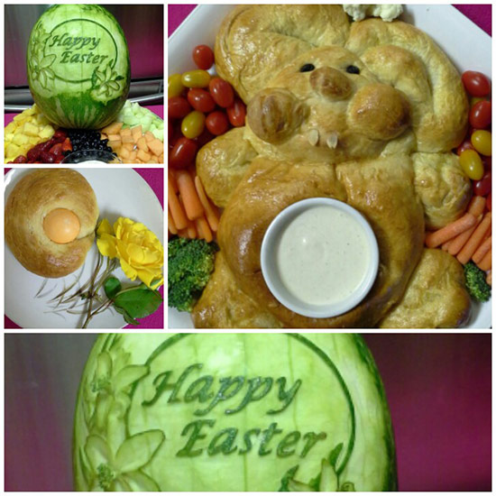 Easter food art by Rose Flores