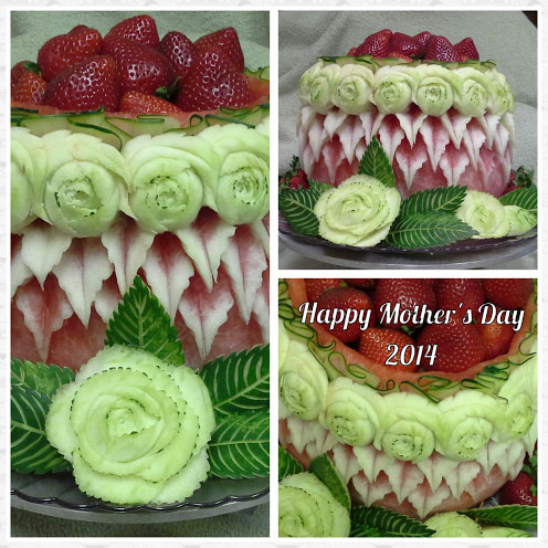 details of watermelon cake by Rose