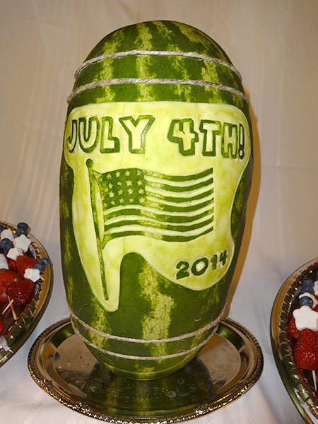4th of july watermelon keg by Cindy Rozich