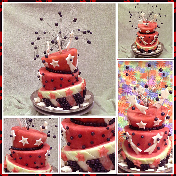 Spectacular th of july watermelon cake nita s fruit and