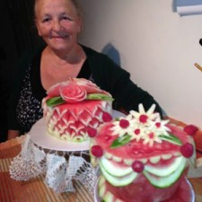 Barbara Waplak and her lovely watermelon cakes