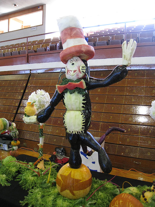 Cat in the Hat food sculpture