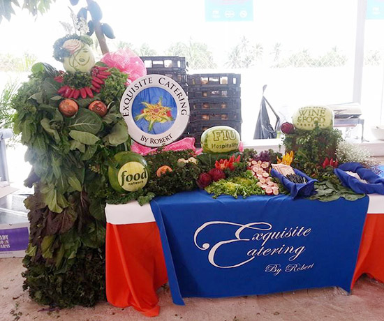Ric's watermelon lady was featured at the Exquisite Catering booth at the festival.