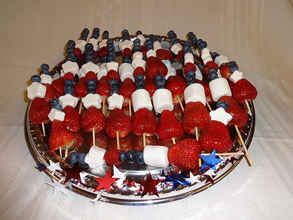 red white and blue fruit kabobs