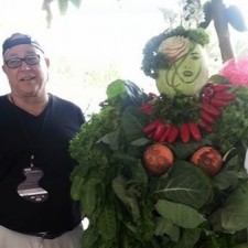 Ric Testani and his watermelon lady