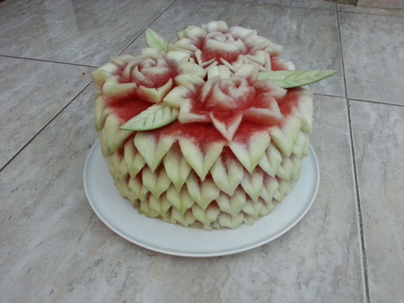 Watermelon Cakes by Customer/student Saada Al-Taie who lives in the Sultanate of Oman.