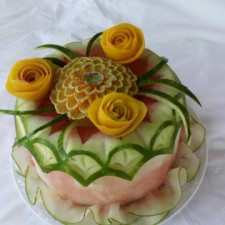 watermelon cake by Videll Keys with surprise inside