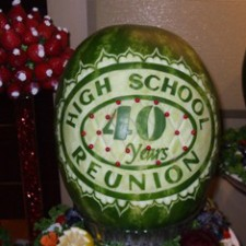 40 year high school reunion watermelon carving