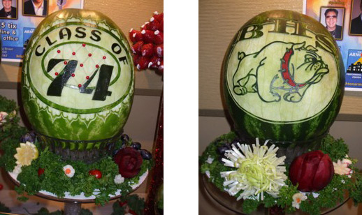 high school reunion watermelon carvings