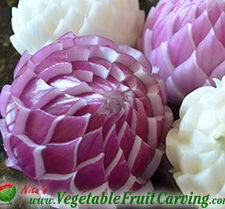 carved purple onion flower